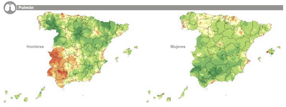 Mapa Mortalidad Cáncer de Pulmón