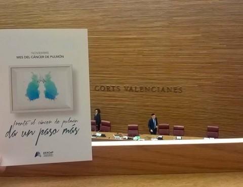 Les Corts Valencianes muestran su apoyo a AEACaP