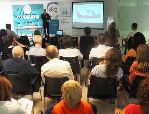 Imagen de la Jornada Aprendiendo a vivir con el cáncer de pulmón celebrada en Octubre de 2017 en Valencia