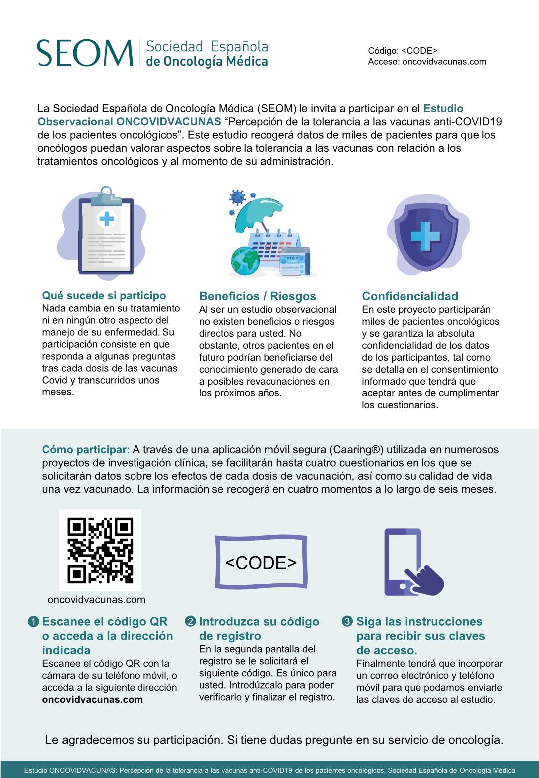 SEOM Oncovidvacunas folleto pacientes