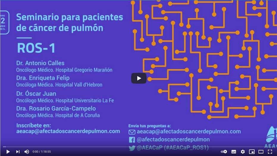 Video: Seminario para pacientes de cáncer de pulmón ROS-1